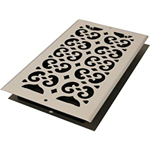 Decor Grates S614W-WH 6-Inch by 14-Inch Painted Wall Register, White