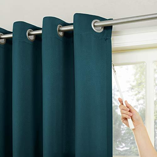 Sun Zero Barrow Grommet Sliding Patio Door Curtain Panel