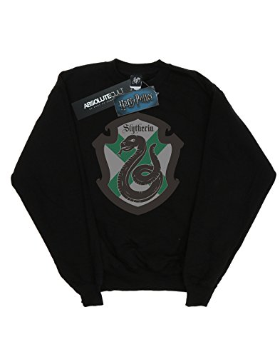 Sweat Potter Shirt Noir Crest Harry Flat Femme Slytherin Yfttw6 WD29IHEY