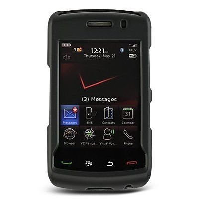 Rubberized Hard Case for Blackberry Storm 2 9550 - Black -