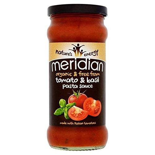Meridian libre de los orgánica de tomate y albahaca Pasta 350g Salsa