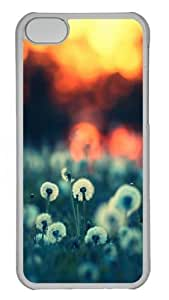 Dandelions at Sunset Polycarbonate Hard Case Cover for iPhone 5C Transparent
