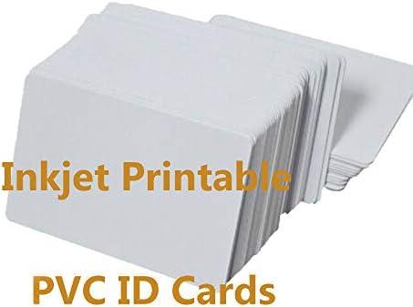 Tintenstrahl PVC Karten (230 Stück) Doppelseitig Bedruckbare PVC ID Karten Kompatibel für alle Tintenstrahl Drucker Sowie Epson und Canon Tintenstrahldrucker/ CR80 30 MIL Dickes