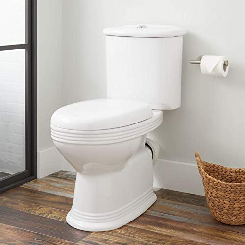 Signature Hardware 398506 Ebler 1.6/0.8 GPF Two Piece Elongated Toilet with Rear Outlet - Seat Included