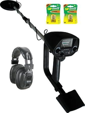 VISUA MD10 - Detector de metales discrimante con kit de accesorios - Baterías y auriculares: Amazon.es: Amazon.es