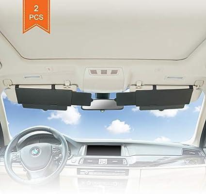 Amazon.com  TFY Car Visor Sunshade Extender Anti-Glare Sun Visor Extender  Window Sunshade and UV Rays Blocker - Black (2 Pieces)  Automotive 833a11c27d2