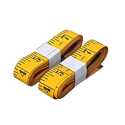 SumVibe 120 Inches/300cm Soft Tape Measure,Pocket Measuring Tape for Sewing Tailor Cloth Body Medical Measurement,Yellow 2-Pack