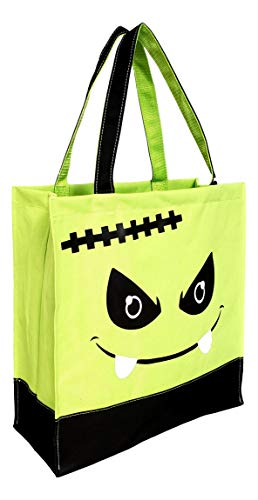 Custom Personalized Character Halloween Bag Trick or Treat Tote (Frankenstein) -