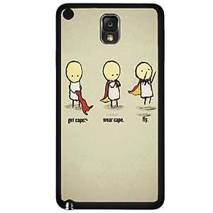 Get Cape. Wear Cape. Fly Hard Snap on Phone Case (Note 3 III)