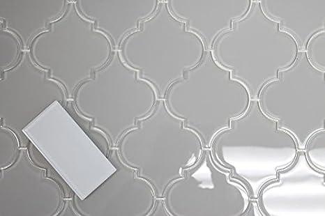 Infinity Blue Arabesque Glass Mosaic Tiles 10 Square Feet