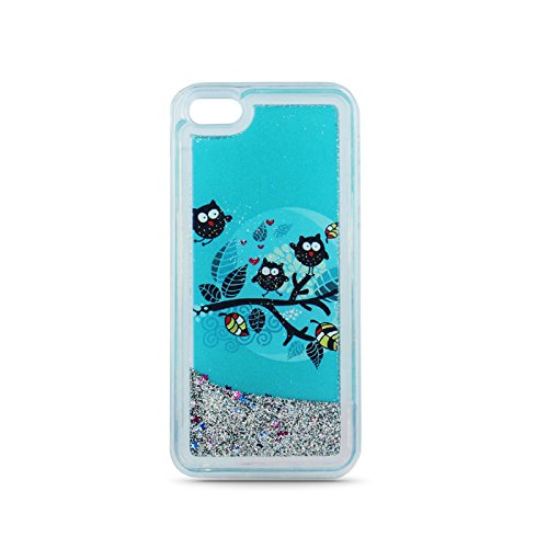 """FUN CASE EULE 1 für Apple iPhone 6 4,7"""" Apple iPhone 6S Handy Cover Hülle Case Glitzer Sterne Flüssig Sternenstaub Hard Case"""
