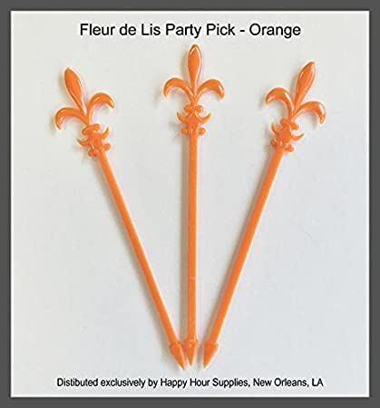 Pack of 100 4 Fleur de Lis Cocktail//Party Picks Black