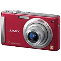 Panasonic Lumix DMC-FS20R 10MP Digital Camera with 4x Wide Angle MEGA Optical Image Stabilized Zoom (Red)