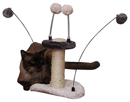 - PetPals Zippy-M Grey Springy Teasing Balls Toy, One Size