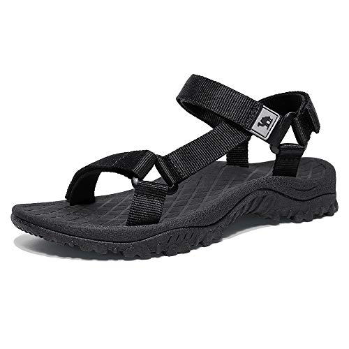 - CAMEL CROWN Sport Sandals for Women Anti-skidding Water Sandals Comfortable Athletic Sandals for Outdoor Wading Beach Black 8.5 M US