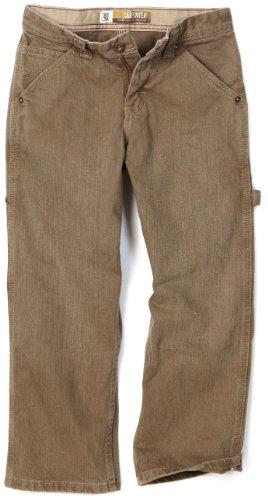 Lee Big Boys' Dungarees Carpenter Utility Jeans, Tarmac Handsand, 16 Husky