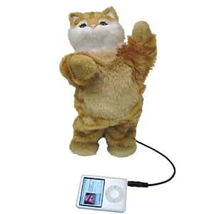 """MI PET"" PLUSH DANCING SPEAKER - ORANGE tabby kitten"