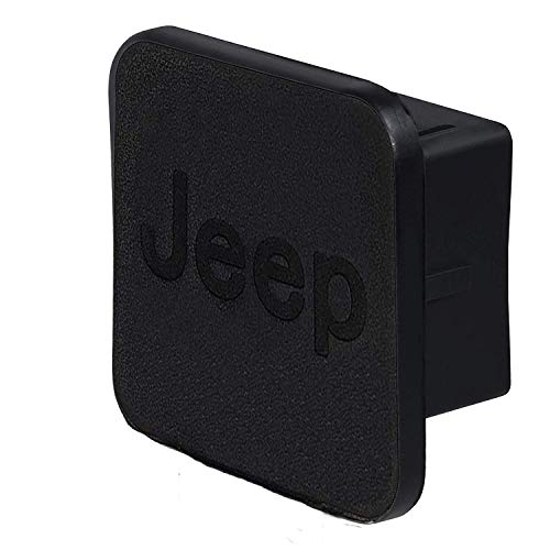Car Trailer Hitch Cover,with Jeep Logo for Jeep Accessories Receiver Tube Hitch Plug(Black) (for Jeep)