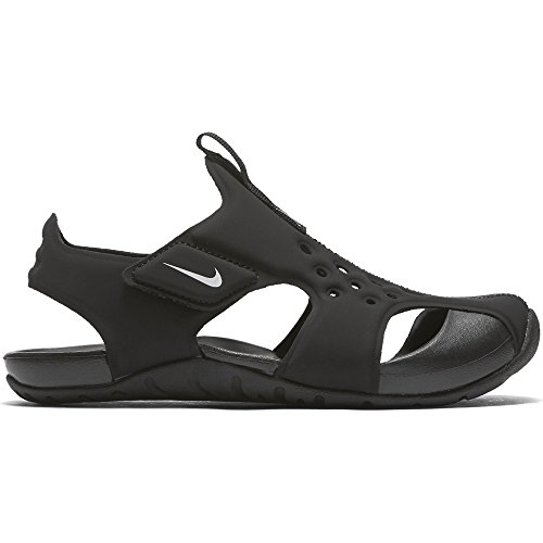 NIKE Kids Sunray Protect 2  Black White Size 1