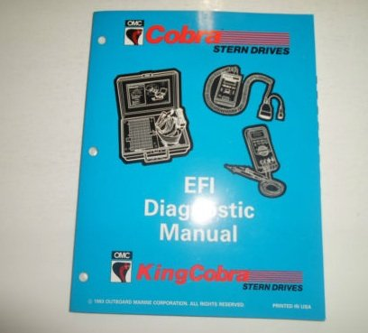 (1994 OMC King Cobra Stern Drives EFI Diagnostic Service Manual FACTORY OEM 94 )