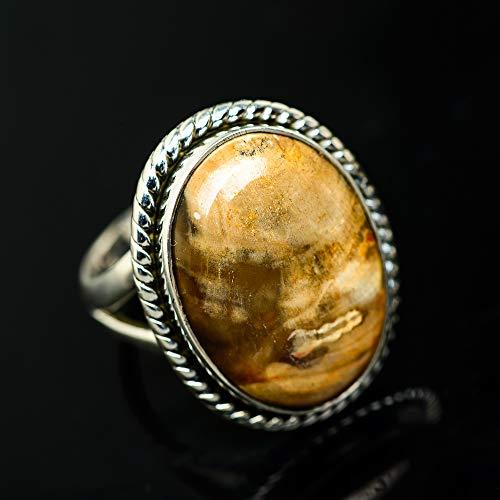 Ana Silver Co Peanut Wood Jasper Ring Size 9.25 (925 Sterling Silver) - Handmade Jewelry, Bohemian, Vintage RING936364 (Ana Silver Co Jasper Ring)