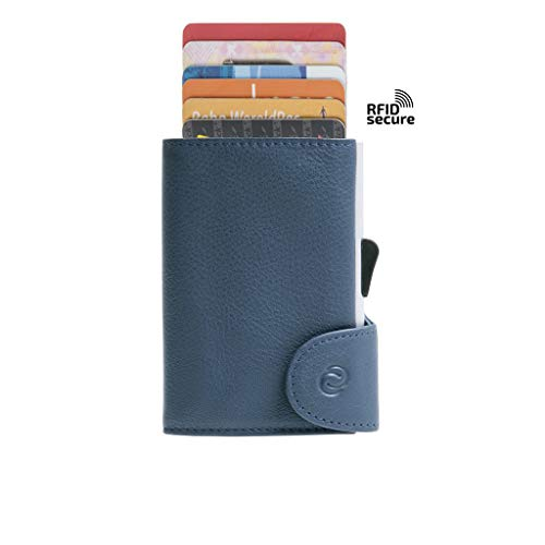 Cheshire Automatic Card Storage Wallet Navy Blue