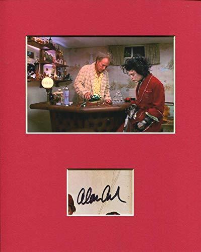 Alan Arkin Edward Scissorhands Signed Autograph Photo Display With Johnny Depp