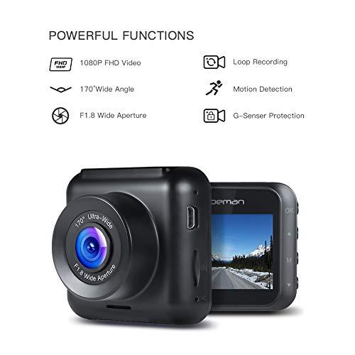 APEMAN 1080P Full Driving 170° Angle, Detection, G-Sensor, Loop Night