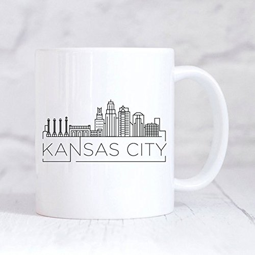 Kansas City Skyline Mug/Housewarming Mug/New Home Mug/My Home City/Kansas City Custom Mug/Home Gift Mug/Kansas Mug, Ceramic Coffee Mug 11oz -