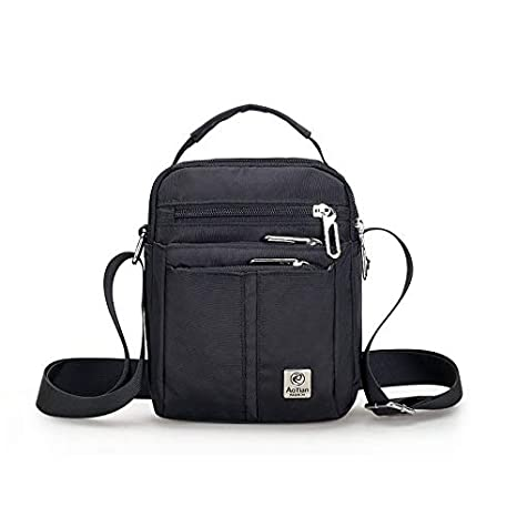 Amazon.com: Business Men Small Flap Handbag Nylon Waterproof ...