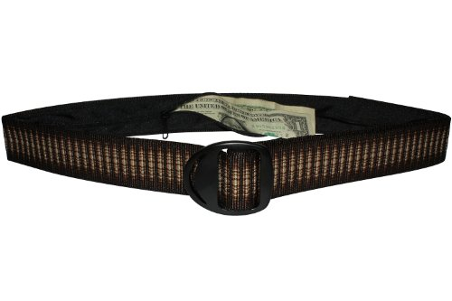 Bison Designs Crescent Money 38mm USA Made Travel Belt, Cappuccino, Medium/38-Inch