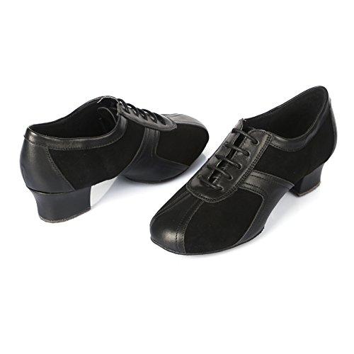 Roymall Dames Leren Latin Dansschoenen / Salsa Schoenen / Ballroom Dansschoenen, Model Af50 Black-7