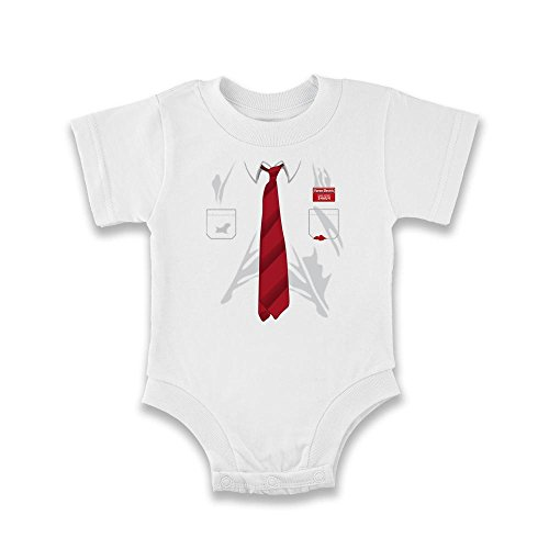 Cornetto Trilogy Costume (You've Got Red On You Costume White 6M Infant Bodysuit by Pop Threads)