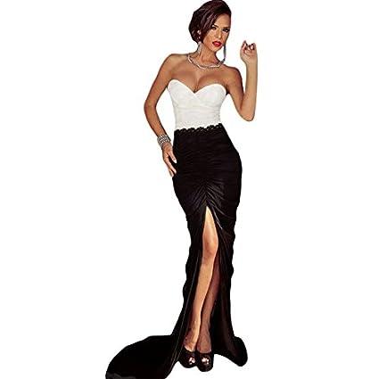 Traje de neopreno para mujer diseño blanco y negro de raso con diseño fruncido sin tirantes