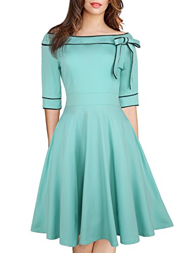 50s style bridesmaid dresses blue - 9