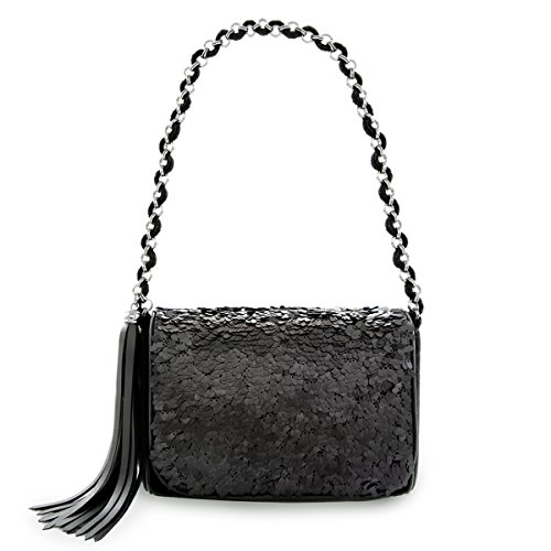 Eric Javits Luxury Fashion Designer Women's Handbag - Spangle Bag - Black by Eric Javits