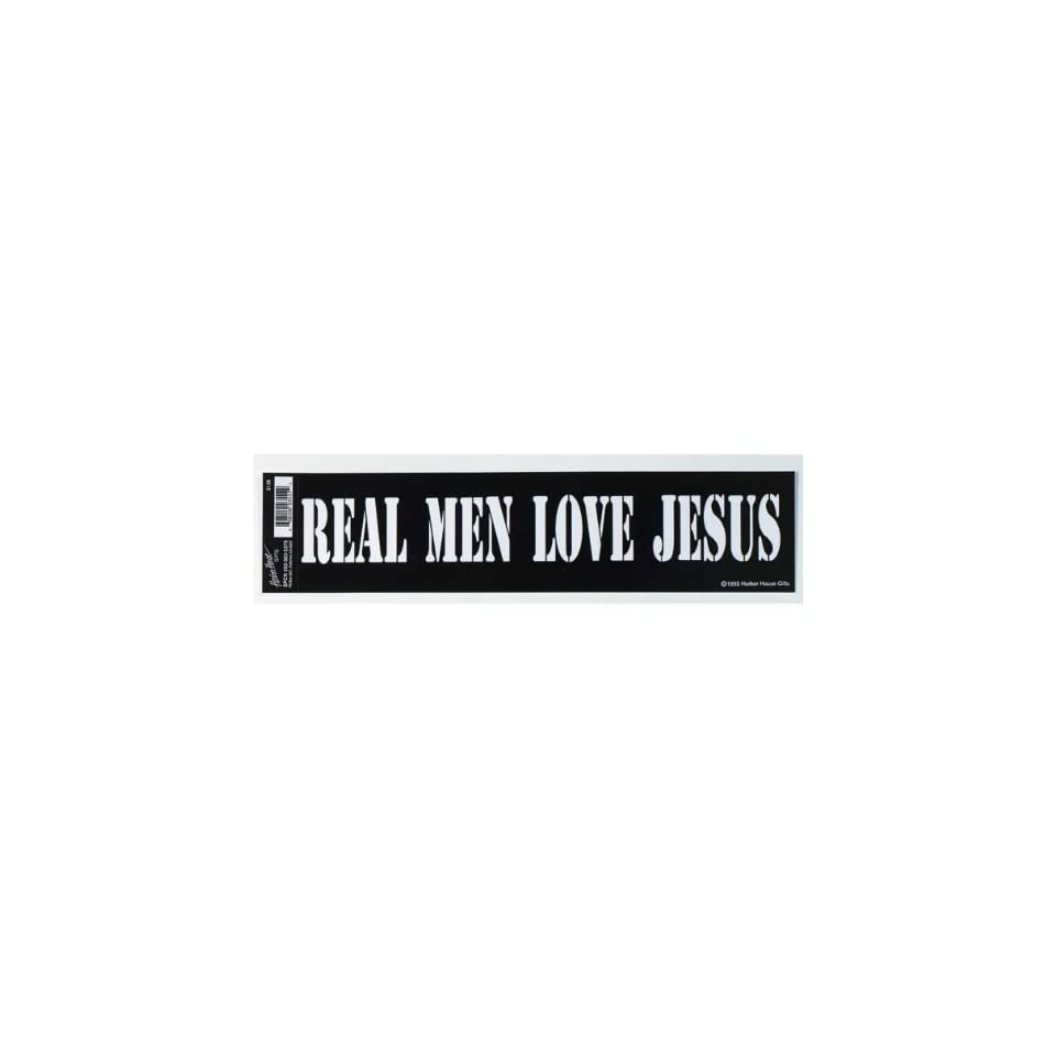 Real Men Love Jesus Vinyl Auto Car Bumper Sticker (SS3537)