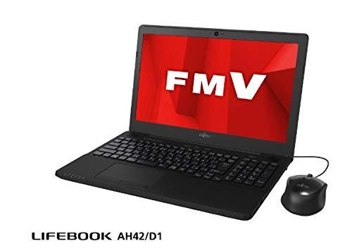 富士通 15.6型ノートパソコン FMV LIFEBOOK AH42/D1 シャイニーブラック(Celeron/メモリ 4GB/HDD 1TB/Office H&B 2019) FMVA42D1B B07PGTJDDS