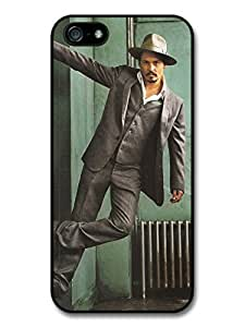 Johnny Depp Gangster Hat Posing Actor Case For Iphone 6 Plus 5.5 Inch Cover A1318