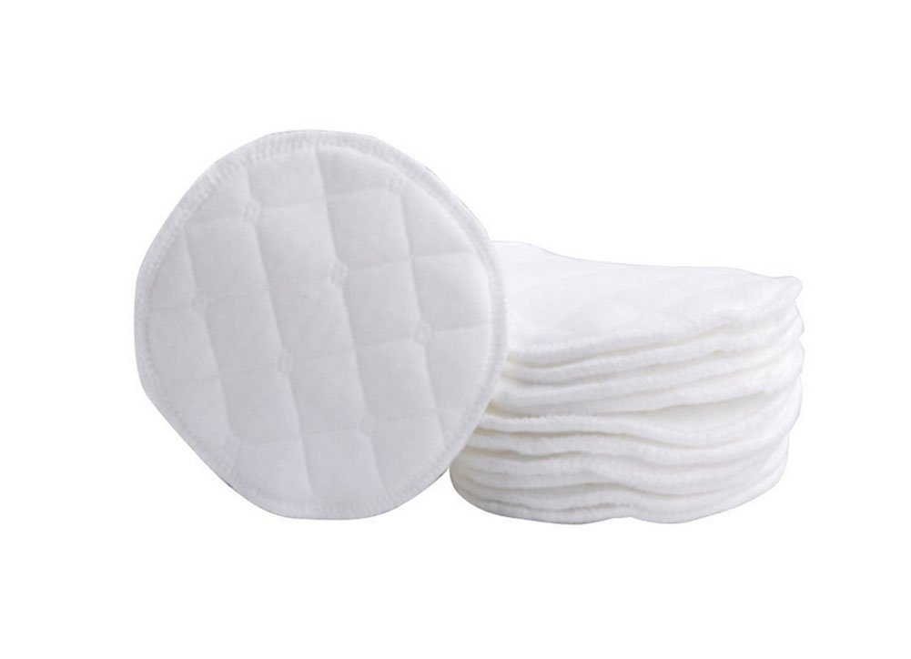 12PCS Soft Organic Cotton Nursing Pads Eco-Friendly & Washable Breastfeeding Pads--Soft and Comfortable Mild and No-Stimulation(White) Elandy