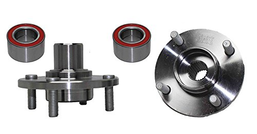 (Both) Front Wheel Hub and Bearing Assembly Kit 2000-11 Ford Focus 4 Lug (Pair) 518510 x2