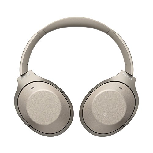 Sony Noise Cancelling Headphones WH1000XM2: Over Ear Wireless Bluetooth Headphones with Case - Gold