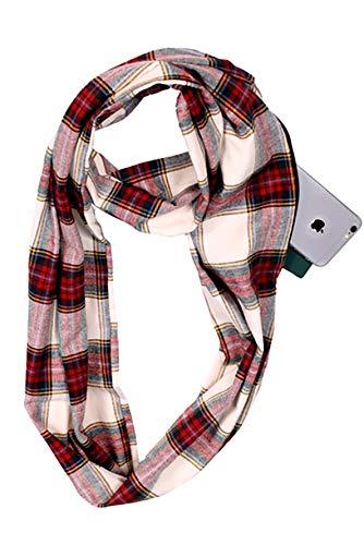 infinity scarf with zipper pocket women