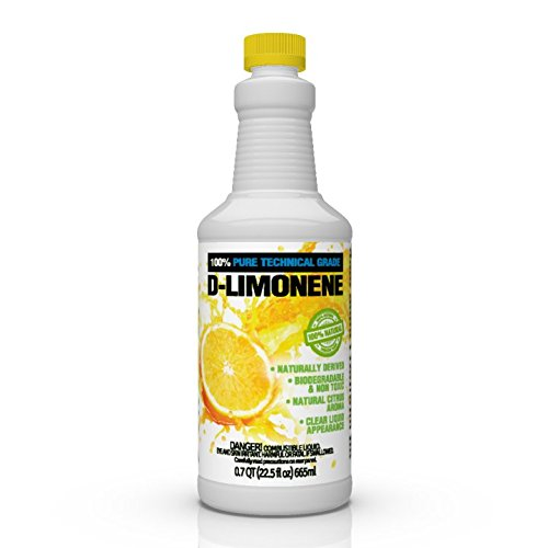 Pure Adhesive Remover - 100% Pure D-Limonene Citrus Orange Oil Extract Best Natural Solvent Extracted from Orange Peels (Citrus Cleaner Degreaser & Deodorizer) (22.5 oz)