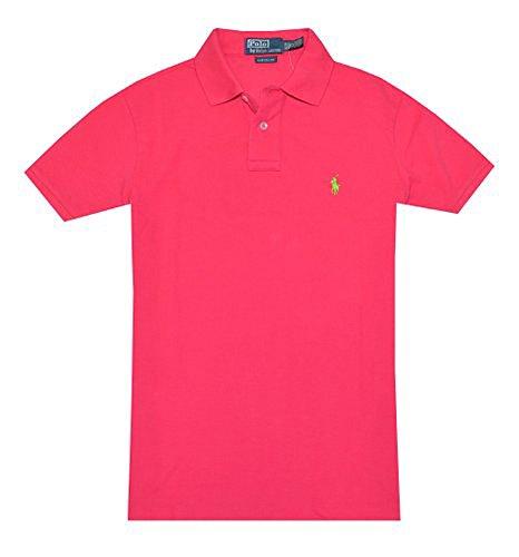 Polo Ralph Lauren Poloshirt mit kurzen Ärmeln, Custom Fit rot Raspberry