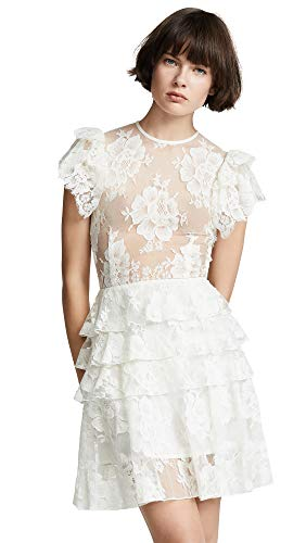 Ewa Herzog Women's Tiered Crew Neck Dress, White, 0