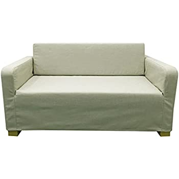 Replace Cover For IKEA Solsta Two Seat Sofa Bed, 100% Cotton Sofa Cover For Solsta  Sofa Bed (Beige)