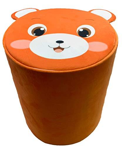 Storl Organizer Storage Stool Toy Cloth Kids Stool (Bear, 12Wx13H) (Bear Stool)