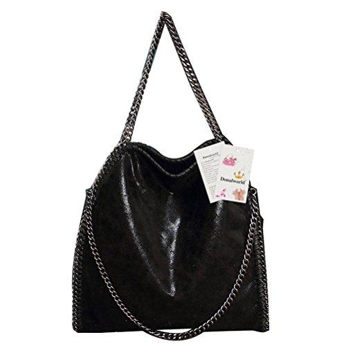 donalworld-women-chain-paillette-large-casual-tote-pu-leather-shoulder-bag-black