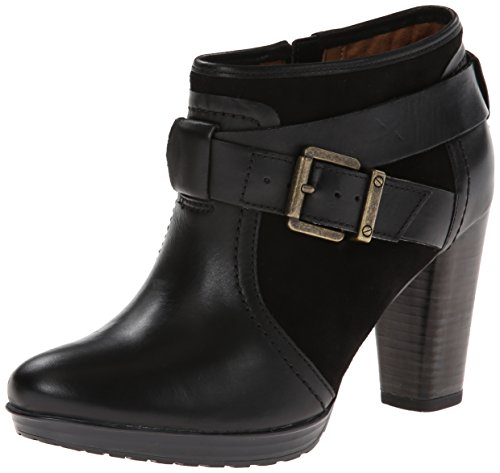 Clarks Women's Lida Dallas Boot,Black Leather,7.5 M US